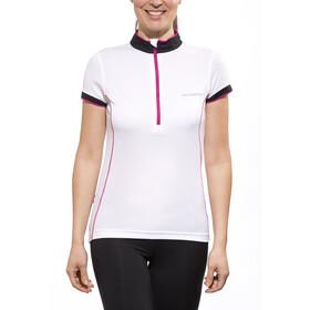 axant Elite Maglietta jersey a maniche corte donna Donna, white/pink